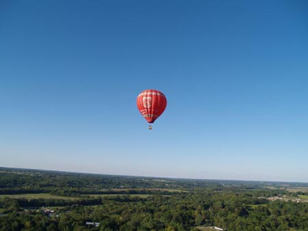 Hot Air Balloon Over Dayton, Oh