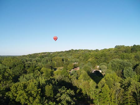 Another photo of the hot air balloon in the Dayton area.